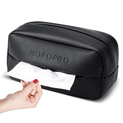HOPOPRO 車 ティッシュケース 車用 ティッシュカバー ティッシュホルダー 車載ティッシュボックス PU材質 ...
