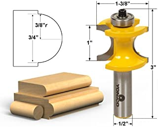 Yonico 13117 3/4-Inch Bead Bullnose Router Bit 1/2-Inch Shank