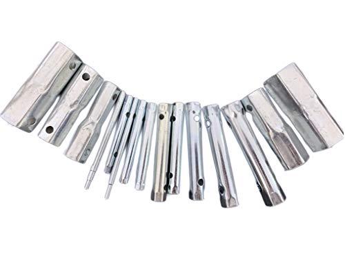 15Pcs Dual-Ended Wrench Socket Plumber Back Nut Tap Spark Plug Spanner Set Extended Spark Plug Wrench Socket set 6-37mm