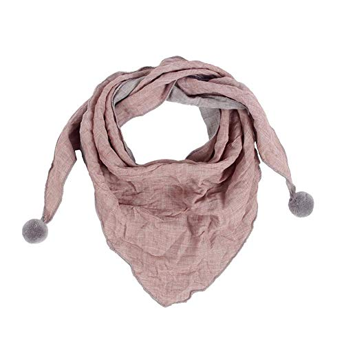 Demarkt Kinder Schals Niedlich Dreieck Schal aus Baumwolle mit Haarball Dreieck-Schals Baby Mädchen Dreieck Schals