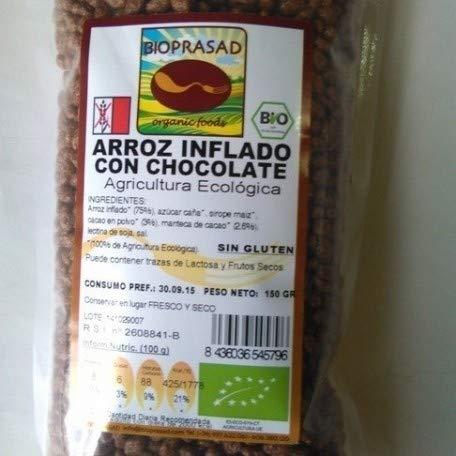 Bioprasad - Arroz Inflado Choco Bio 200 Gramos - Sin Gluten Sin Lactosa - Procedente De Agricultura Ecológica