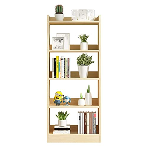 Estantería de piso Estantería de madera de pie Estantería abierta Etagere Estantería Estantería de exhibición Estante de almacenamiento Organizador Estantes para estantería de oficina en casa (Color: