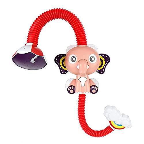 JJINPIXIU 1 stück Cartoon Elefantenform Kinder Sprinkler Badespielzeug Leichte Kinder Elektrischer Badekopf Duschkopf Badewanne Duschkopf Ideal für Kinder Baden, Dusche