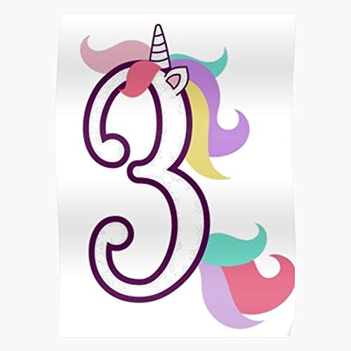 3 Wild Girls Birthday Three Years I Fsgteam- Impressive and Trendy Poster Print decor Wall or Desk Mount Options