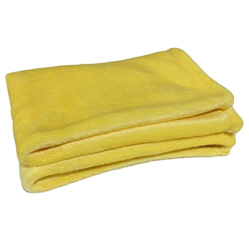 Auwer Small Blanket, Super Soft Fleece Throw Blanket Ultra Cozy Throw Light Weight Microfiber Blanket Couch/Sofa/Bedding/Travel/Camping Blanket 50x70cm (Yellow, 50x70cm)