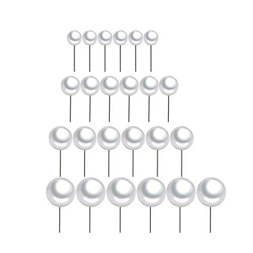 F Fityle 12 Pares De 3-6 Mm De Imitación De Perlas Stud Pendientes Hipoalergénicos Niñas Joyería Elegante