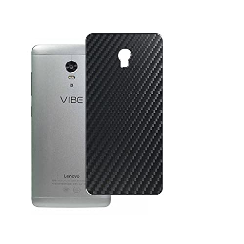 Vaxson 2-Pack Back Protector Film, compatible with Lenovo VIBE P1 Turbo, Black Carbon Fiber Guard Cover Skin [Not Tempered Glass/Not Front Screen Protectors]
