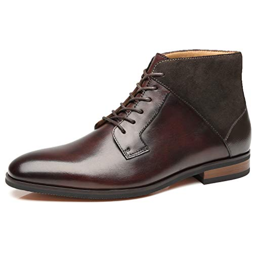 La Milano Herren Chelsea Boots Echtleder Bequeme Stiefeletten Klassisch, Braun (Cabey-1-dunkelbraun), 40 EU