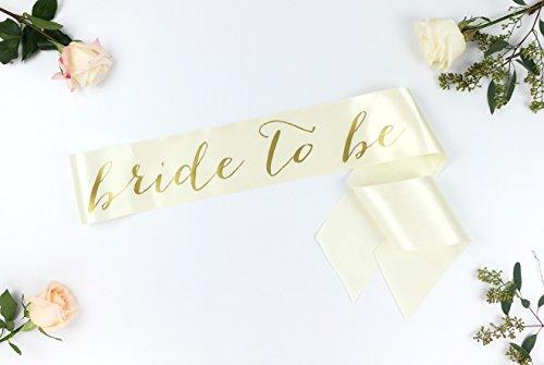 Bachelorette Sash - Bride to Be Sash - Bachelorette Party - Bride Gift - Ivory Bride Sash - Bridal Shower - Bachelorette Party Accessory