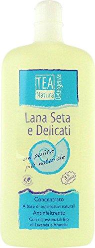 TEA NATURA - Flüssigwaschmittel für Wolle & Seide - Für empfindliche Textilien mit Duft nach Lavendel & Orange - Angenehmer Duft - Sehr ergiebig - Vegan - 1L