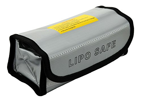 Teenitor Fireproof Explosionproof Lipo Battery Safe Bag Lipo Battery Guard Safe Bag Pouch Sack for Charge & Storage 185x75x60mm Large Size