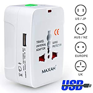 This universal plug converter adapter can convert the plug on your device to the type of plug you need(UK,Europe,US/AU). It's convenient to carry and good to use, a perfect helper for your business trip,overseas tours and visiting relatives abroad. 1...