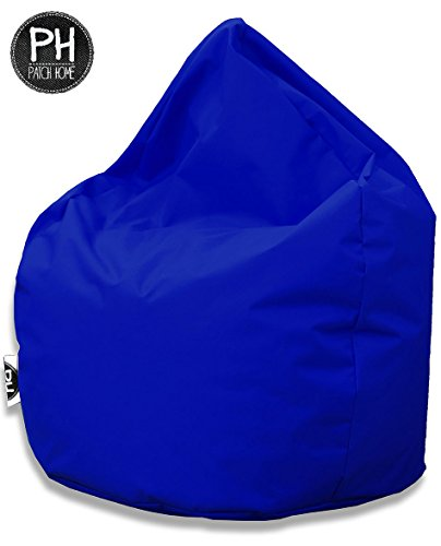 Patchhome Sitzsack Tropfenform - Blau für In & Outdoor XL 300 Liter - mit Styropor Füllung in 25 versch. Farben und 3 Größen