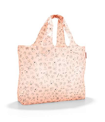 Reisenthel mini maxi beachbag Borsa da spiaggia, 62 cm, 40 liters, Beige (Cats and Dogs Rose)