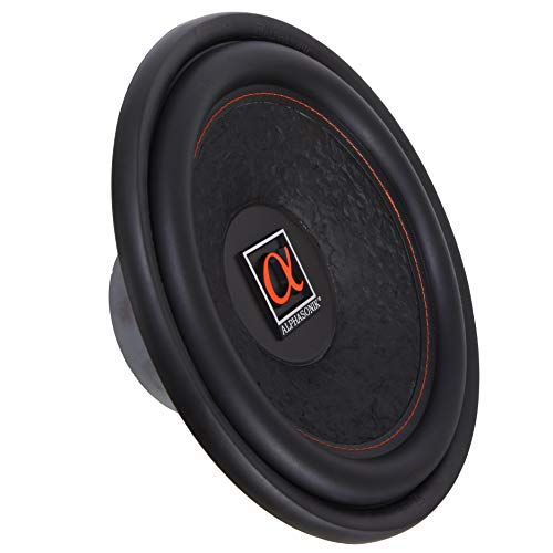 "Alphasonik HSW212 Hyper 200 Series 12"" 1200 Watts Max / 400 Watts RMS Single 4 Ohm Car Subwoofer Stamped Alpha Steel Basket with High Grade Magnet Non Pressed Paper Cone Audio Speaker Bass Sub Woofer"
