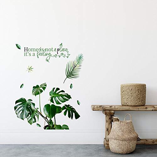Plantas Verdes De Hoja Grande Pegatinas De Pared En Inglés Sala De Estar Dormitorio Fondo Pared Pegatinas Decorativas De Pared Se Pueden Quitar