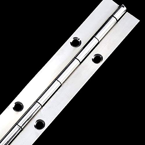 Piano Hinge, 304 Stainless Steel Long Row Hinge, Heavy-Duty Door Hinge, Continuous Ship Deck Hinge, Length: 15.8 inches; Width: 1.6 inches (one Piece)