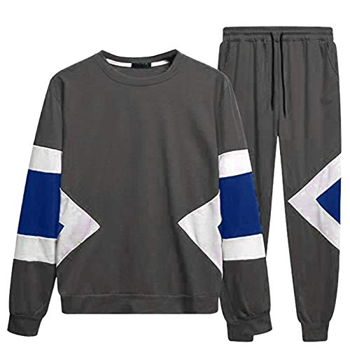 AKAIDE Men's Jogging Suit, Sports Trousers And Hoodie, Tracksuit, Sports Trousers, Leisure Suit, Zip Jacket With Hood And Pockets,Jogging Trousers