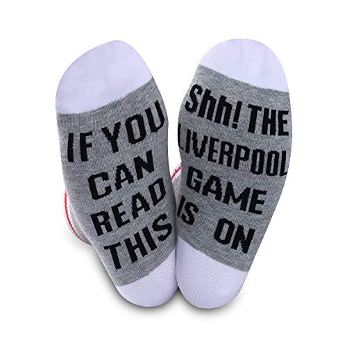 Fußball-Geschenk, Fußballsocken, Liverpool Game Is On Soccer Fans Neuheit Socken für Männer und Frauen Gr. M, Liverpool