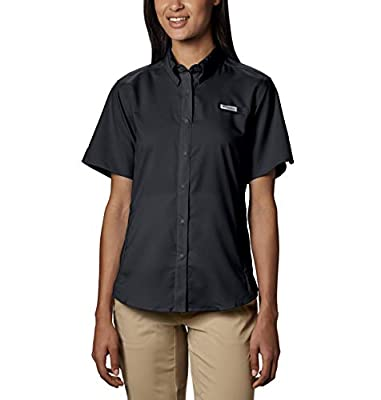 Columbia Women's Tamiami II Short Sleeve Shirt, Large, Black