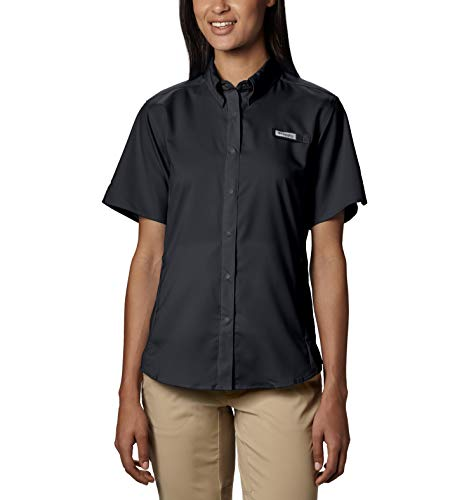 Columbia Women's Tamiami II Short Sleeve Shirt, Small, Black