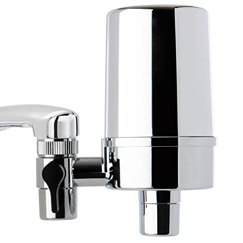 iSpring DF2-CHR Faucet Water Filter for Kitchen, Bathroom, or RV Sink, 500 Gallons Long Life, Chrome Finish