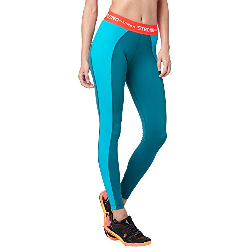 STRONG by Zumba Body Shaping Jacquard Athletic Pants Workout Leggings for Women
