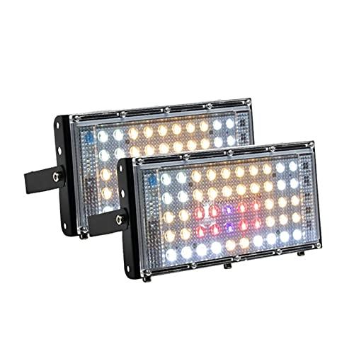 800W LED crecer el espectro completo IP 66 impermeable Phyto Lámpara de la lámpara de hidroponía interior para la semilla de floración vegetativa (Emitting Color : 2pcs)