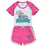 My Little Pony - Conjunto de camiseta y pantalones cortos para niños, juego de ropa de 2 piezas, rosado, 5-6 Años