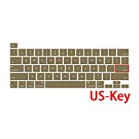 For Macbook Pro 16ラップトップキーボードカバーインチタッチバーキーボード用For Macbook 16インチA2141 For Mac Proカラーカバー用保護フィルム-US-Key Army Green-