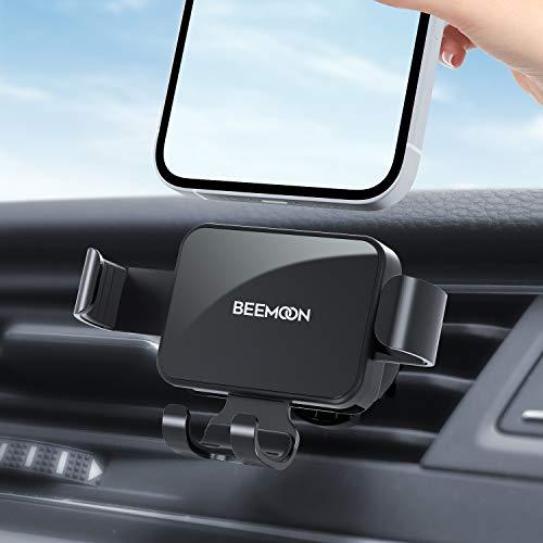 Beemoon Handy Autohalterung, Auto Vent Halterung - Universal Schwerkraft Handy KFZ Halterungen für iPhone 12 Mini, 12, 11 Pro, Xs Max, XR, X, 8, 7, Samsung S10 S9, Huawei, Smartphone