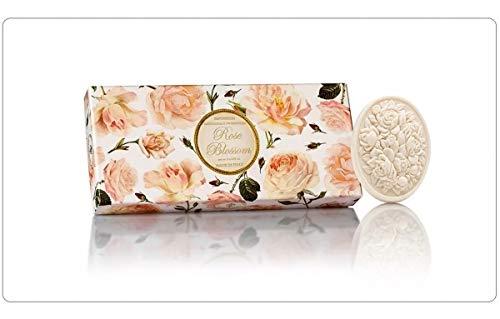 Jabón de Rosa, pack regalo 3 pastillas de 125 g, Jabón artesanal italiano de Saponificio Artigianale Fiorentino