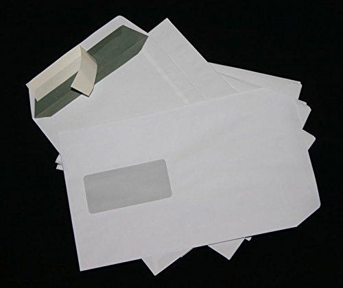 100 Stück Versandtaschen Briefumschläge C5 A5 weiß haftklebend mit Fenster 162x229 mm