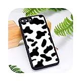 Coque en caoutchouc de silicone pour iPhone 6 6S 7 8 Plus X XS XR 11 12 Mini Pro Max Motif vache...