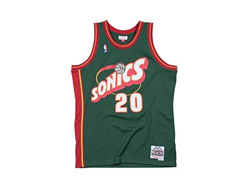 Mitchell & Ness Gary Payton 20 Replica Swingman NBA Jersey Seattle Supersonics Green HWC Basketball Trikot