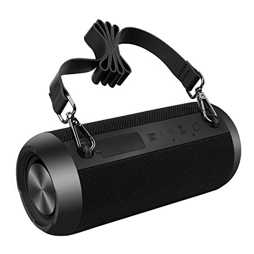 Bluetooth Speakers, 30W Portable Speaker Loud Stereo Sound, Rich Bass IP67 Waterproof, 30+ Hour Playtime, Built-in Mic, Wireless Speaker with TF, AUX, FM for Shower, Pool, Party, Travel, Outdoors