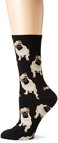 Socksmith Pugs Black One Size