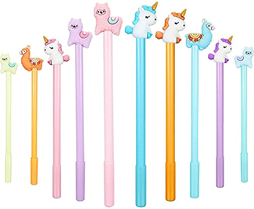 Weimay 20 Pieces Cartoon Animal Pens, Including Alpaca Pens Unicorn Pens and Sheep Camel Gel Pen for Office School Supplies