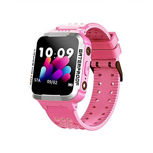 Smartwatch Voor Kinderen Waterdicht Smartwatch Tracker Voor Mobiele Telefoon Positionering Smartwatch Cadeaus Voor Kinderen Games Telefoongesprek Roze