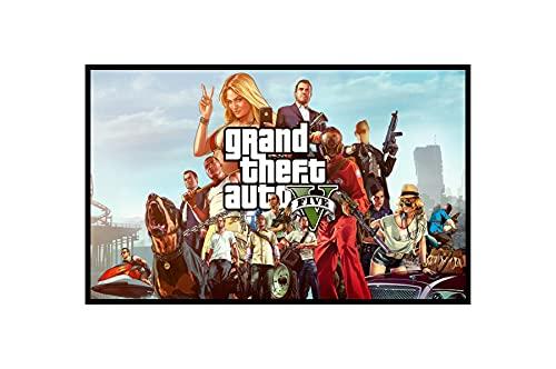 Quadro Decorativo Poste Grand Theft Auto V Gta Classico
