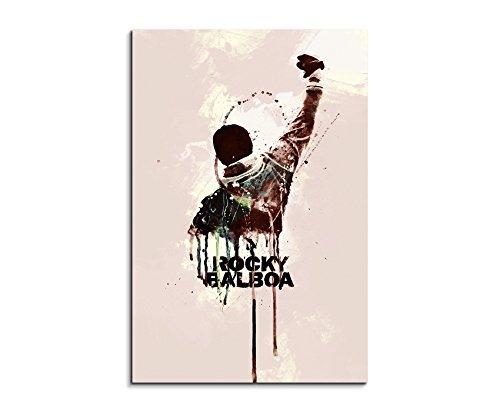 Paul Sinus Art Rocky 90x60cm Aquarell Art Wandbild auf Leinwand fertig gerahmt Original Unikat