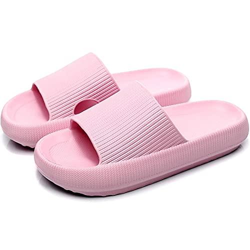 Nmg1 Toboganes de Almohada Ultra Suave, Zapatillas de Casas Super Suaves, Zapatillas de baño de Espuma, Zapatillas de Ducha Ligeras sin Deslizamiento Grueso para Hombres y Mujeres