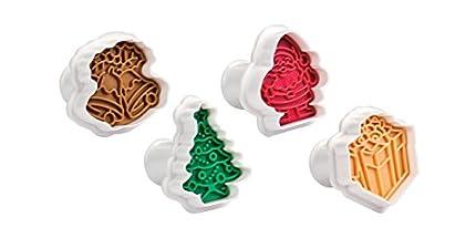 Tescoma Cortapastas con Sello Delicia, 4 PZS Navidad, Colores Variados, 23 x 14.5 x 5.9 cm