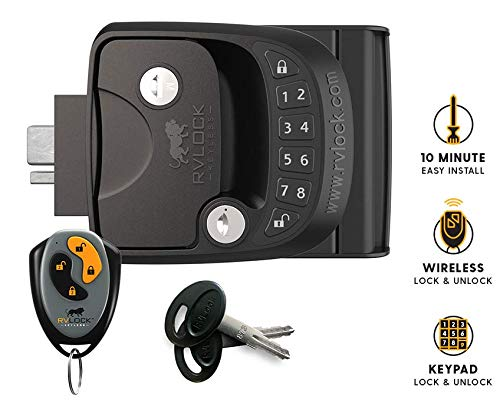 RVLock Key Fob and RH Compact Keyless Entry Keypad, RV/5th Wheel Lock Accessories