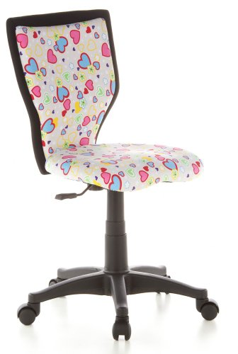 HJH Office Silla Infantil, Algodon, Multicolor (Flowers & Hearts), 40 x 52 x 94 cm