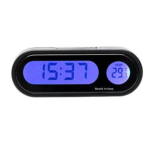 Holdream Auto-Thermometer Uhr Ornamente Digital LCD Display