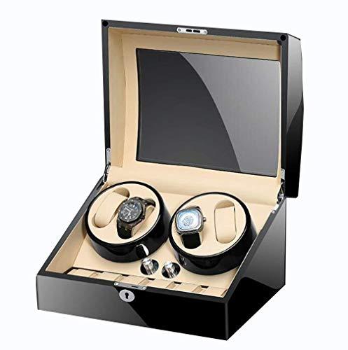 Cartones para embalaje de pintura de piano, Bobinadora automática de 4+6 relojes con motor silencioso Mabuchi y caja de almacenamiento de relojes, caja de embalaje caja de cartón (color: A)