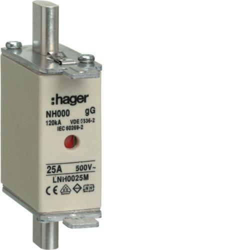 Hager LNH0025M NH-Sicherung NH000 gG 500 V 25A K-Melder