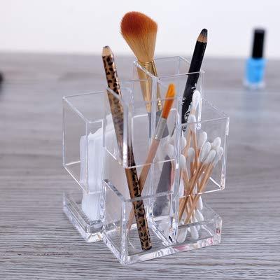 ZHAS Boîte de Rangement cosmétique Boîte à Stylo Acrylique Organisateur de cosmétiques Porte-Pinceau à Maquillage Boîte d'affichage de Stockage de cosmétiques Stand Porte-Crayons