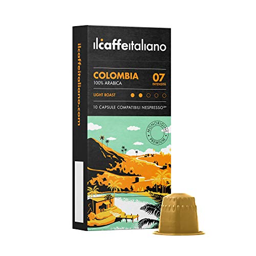 Nespresso 60 kompatible Kapseln - Il Caffè Italiano - Mischung Kolumbien 100% Arabica Intensität 7